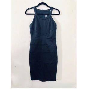 JAX Black Midi Bodycon Dress